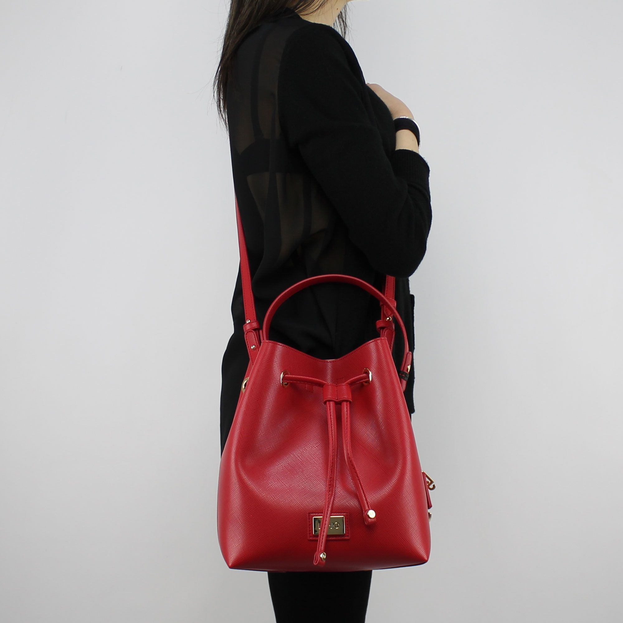 Bag bucket bag Liu Jo Drawstring Hawaii the red and pink A18148 E0502