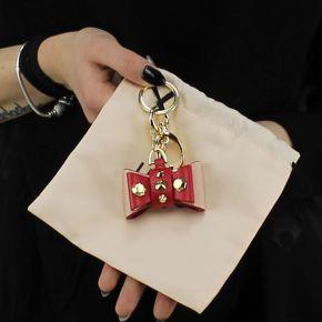 Portachiavi Liu Jo bow con borchie rosso e rosa A18211 E0502