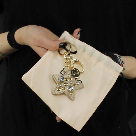 Portachiavi Liu Jo Stella con borchie oro e soia A18214 E0503