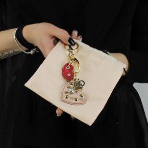 Portachiavi Liu Jo cuore lips borchie rosa e rosso A18217 E0503