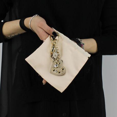 Schlüsselanhänger Liu Jo herz-lips-ohrstecker gold-und soja-A18217 E0503