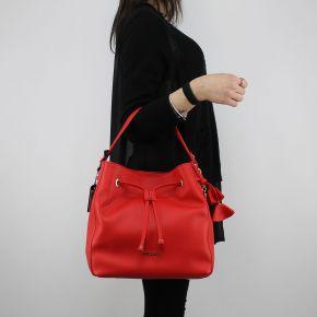 Bolsa de bolsa de Balde Liu Jo Cordón del Niágara rojo fuego N18125 E0037