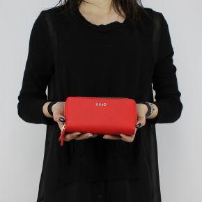 Wallet Liu Jo Double Zip Around red fire N18188 E0037