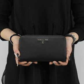 Wallet zip around Patrizia Pepe black