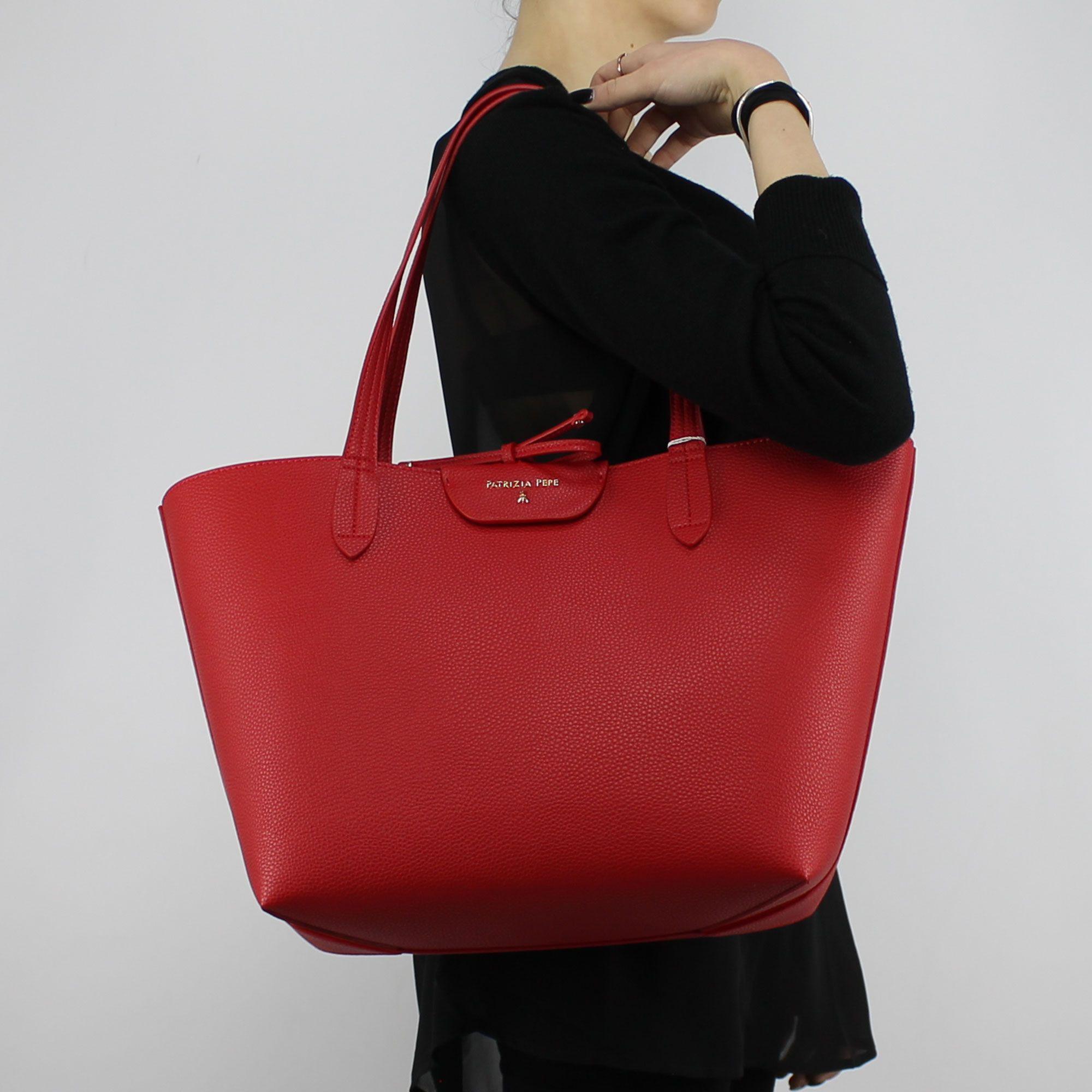Shopping Pepe Rosa Reversibile Rossa E Av63 Borsa Patrizia 2v5452 6yf7gbY