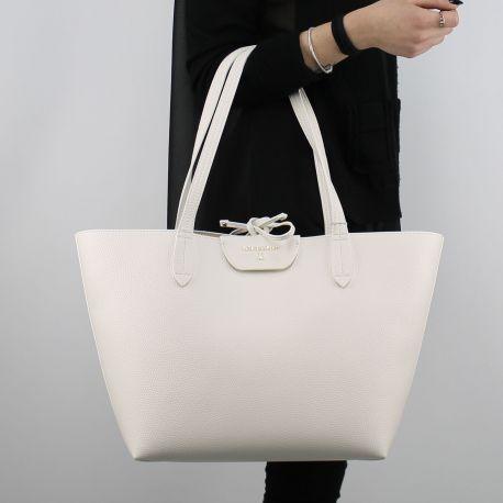 Borsa Shopping reversibile Patrizia Pepe bianca e beige 2V5452 AV63
