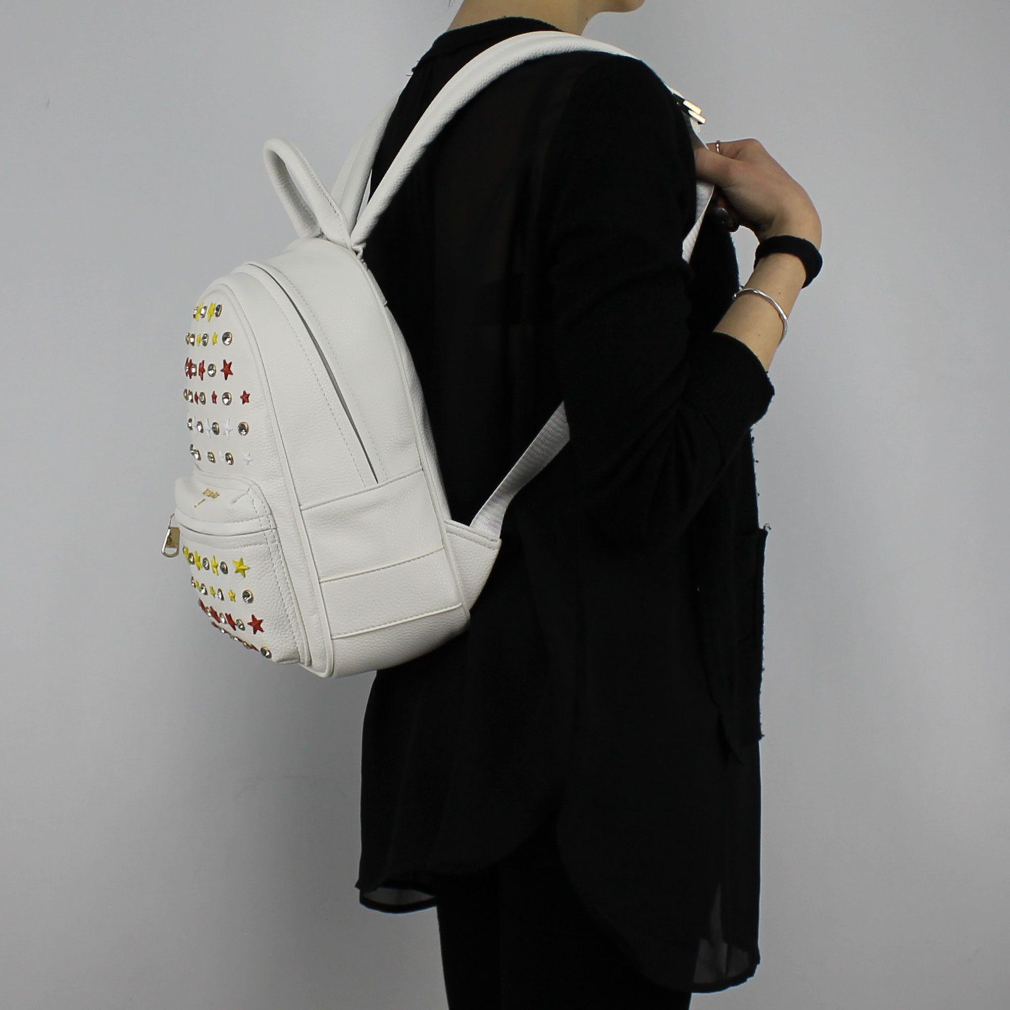 purchase cheap 9be62 cd496 Zaino Patrizia Pepe bianco con borchie e strass 2V7768 A3CR