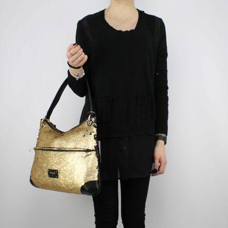 Tasche ein-Schulter-Patrizia Pepe-gold mit pailletten 2V7788 A2BF