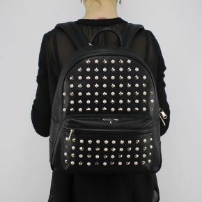 Backpack Patrizia Pepe black with studs and pearls 2V5850 A2XM