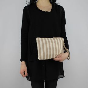 A clutch Liu Jo indian beige and taupe N18183 T7114