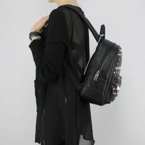 Backpack Patrizia Pepe black with studs and rhinestones 2V7768 A3CR
