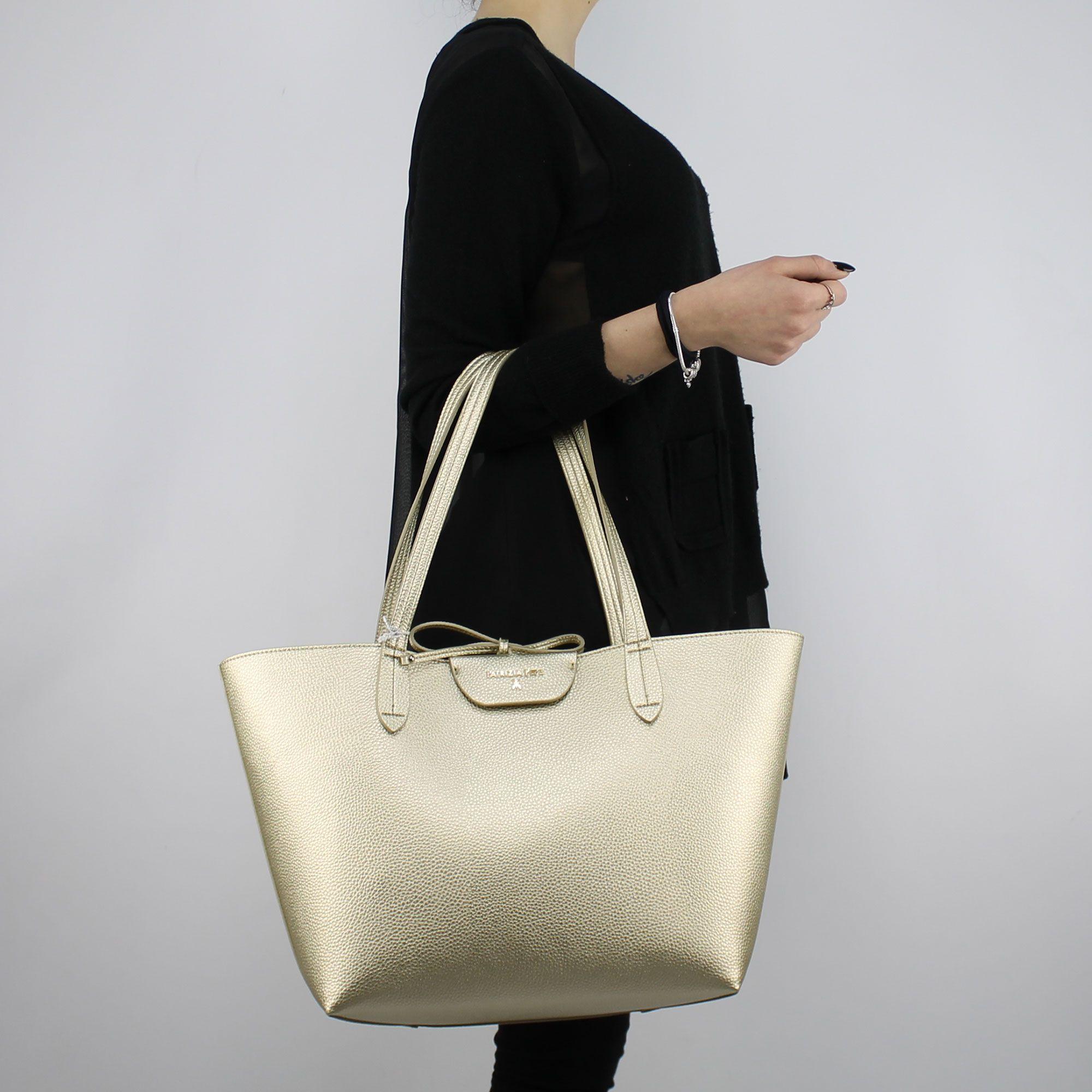 92bc9ed65c Shopping bag reversible Patrizia Pepe gold pearl 2V5452 AV63 - In ...