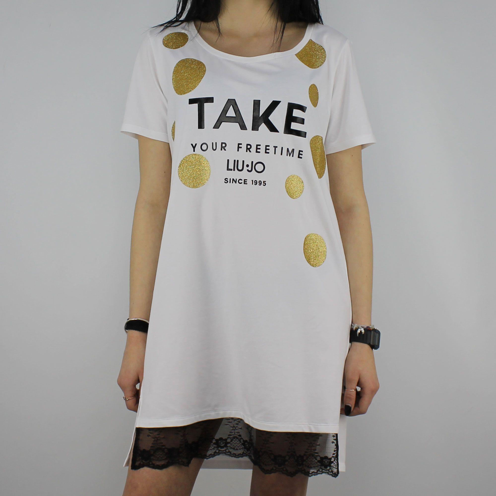 T-Shirt Liu Jo Sport Jolie bianca - In More Est Store 1ab3945c7c2