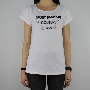 T-Shirt Liu Jo Sport Morena bianca