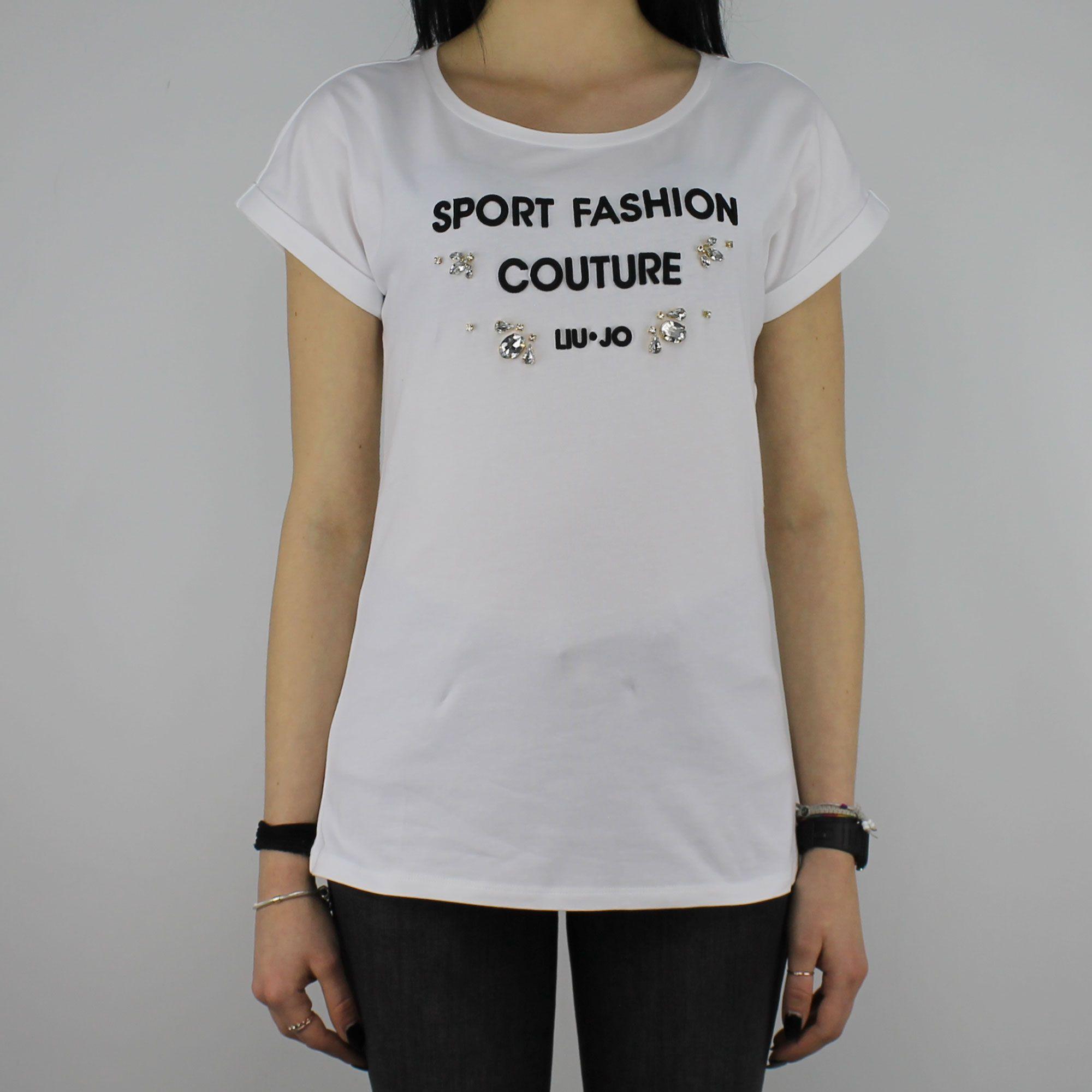 T-Shirt Liu Jo Sport Morena bianca - In More Est Store 7b2aa7e8d74