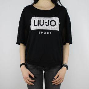 T-Shirt Liu Jo Sport Cloe nera T18115