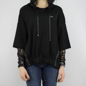 Sweatshirt-Liu Jo Sport Diana schwarz mit stickerei und pailletten