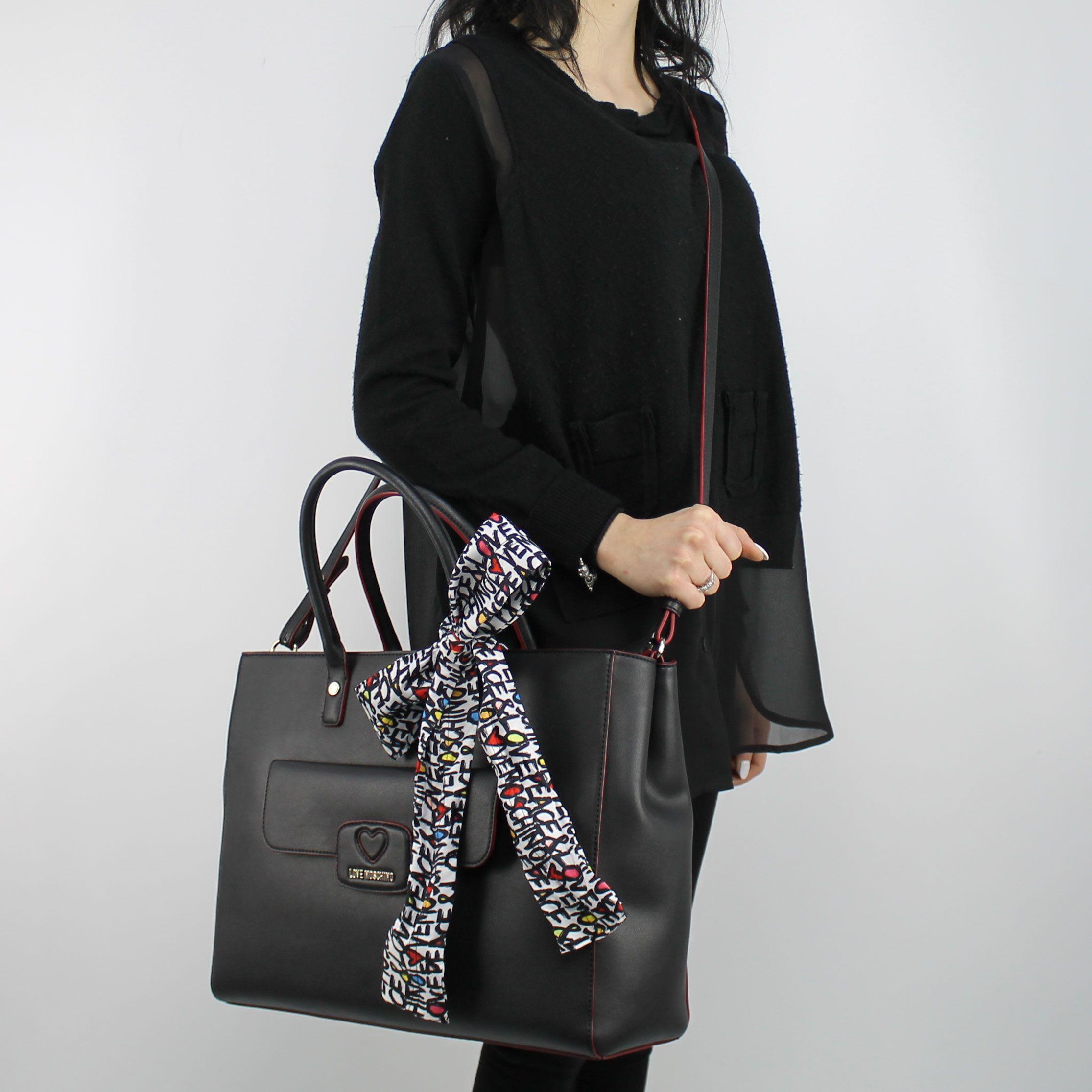 Shopping Store Borsa Nera More In Love Moschino Est Jc4255pp05kf0000 d4q84