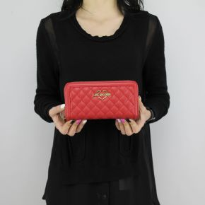 Wallet Love Moschino quilted red JC5541PP05KA0500