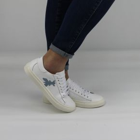 Zapatos Zapatillas de deporte Patrizia Pepe blanco logo celestial 2V7044 A483