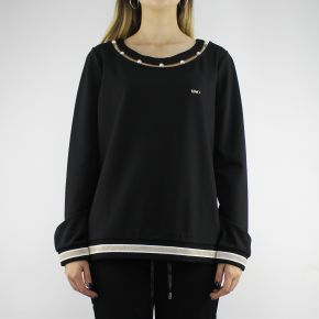 Sweatshirt Liu Jo Sport Debora black with pearls