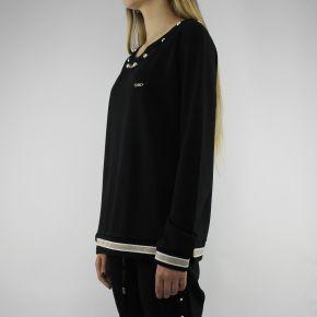 Sweatshirt-Liu Jo Sport-Debora schwarz mit perlen