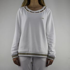 Sweatshirt Liu Jo Sport Debora white with pearls
