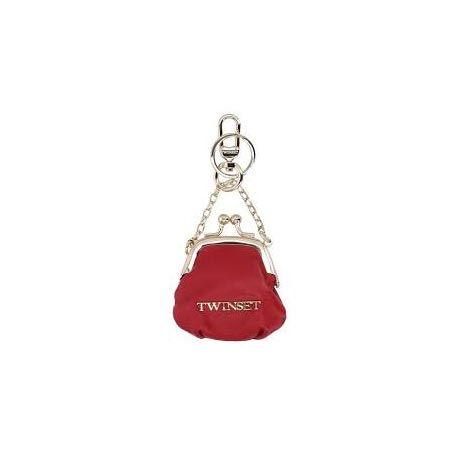 Portachiavi Twin-set rosso rubino