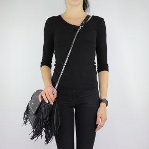 Shoulder bag Liu Jo Crossbody Lima with fringe black size M A68087 E0058