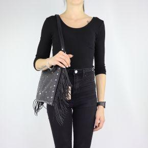 Tasche Umschlag Flach-Feile mit fransen schwarz A68090 E0058