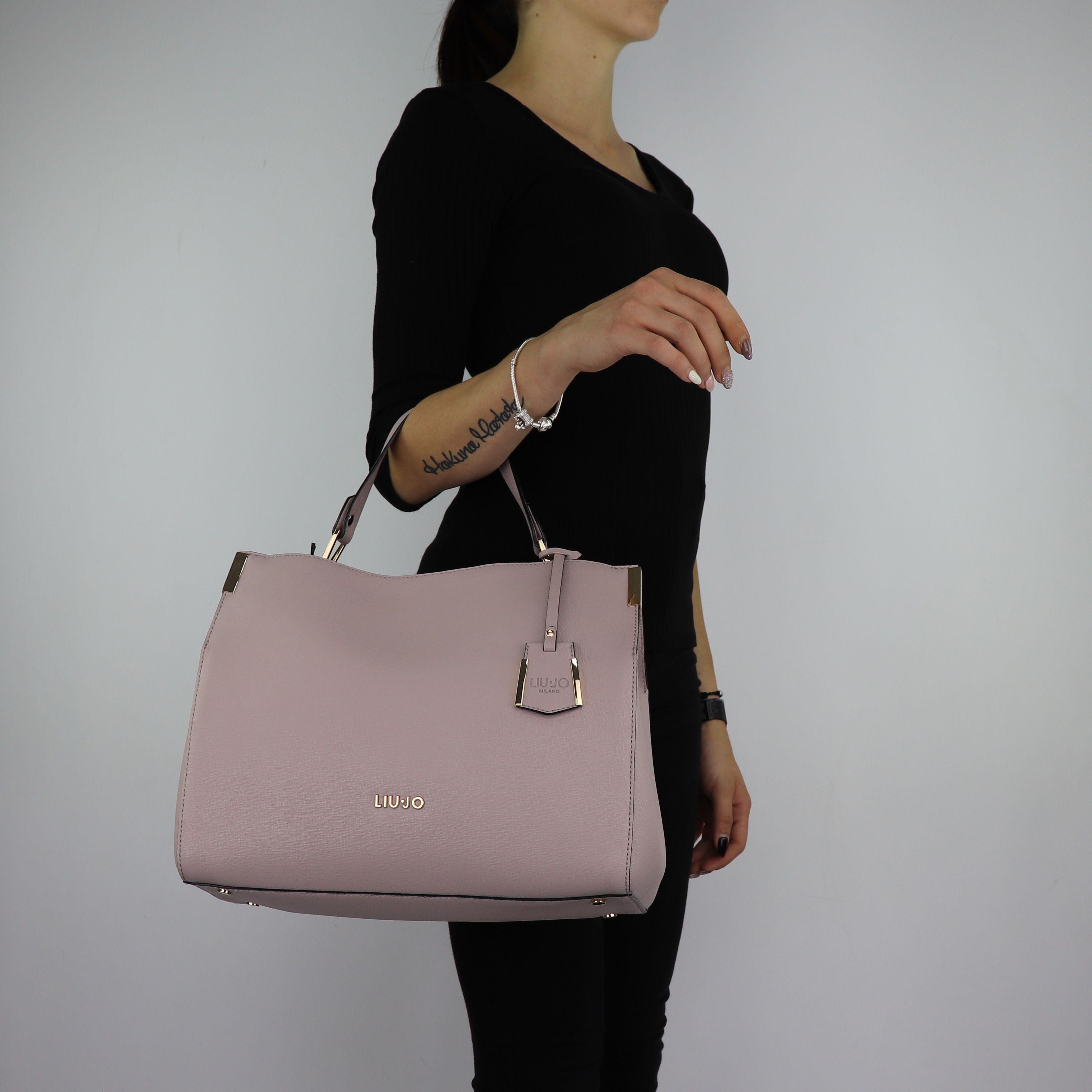 3c96f9aa7a Borsa Bauletto Liu Jo manico superiore Isola rosa cipria taglia L A68002  E0087 ...