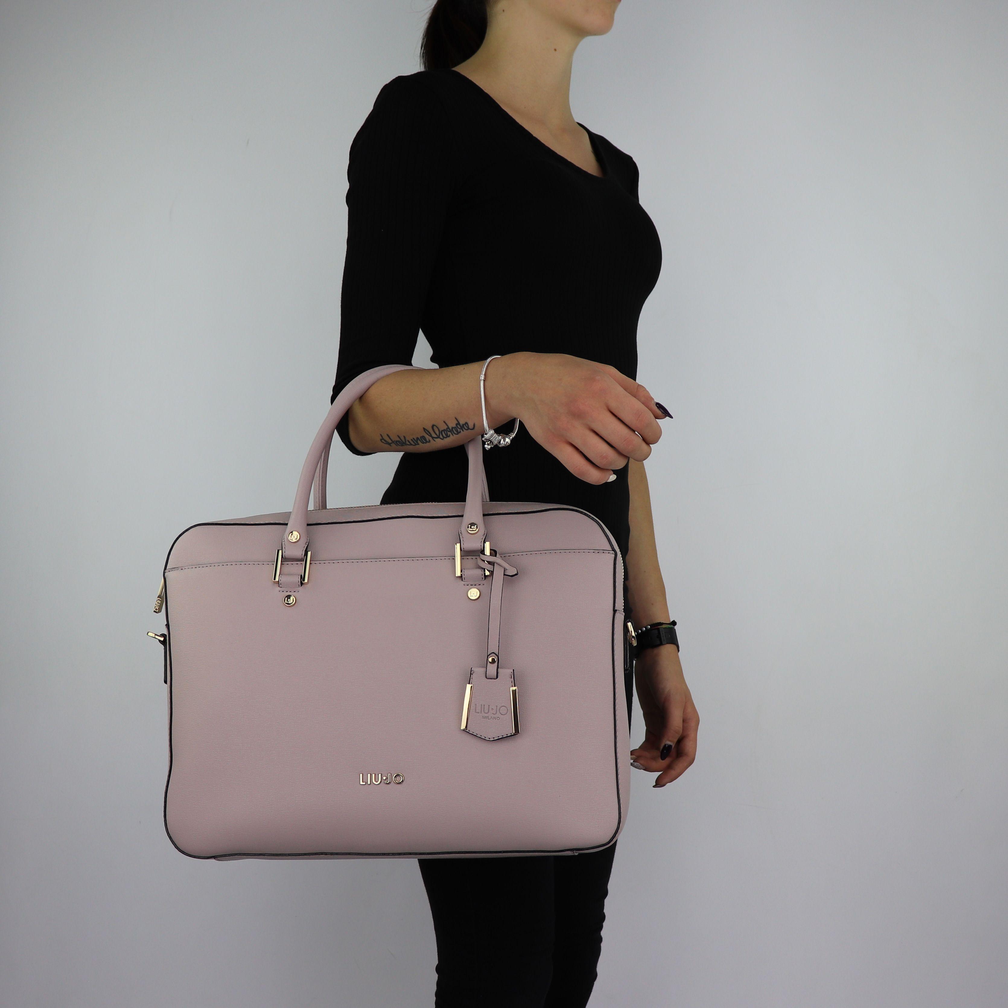 ... Borsa cartella Liu Jo Briefcase isola rosa cipria taglia L A68008 E0087  ... 37a85e1b825