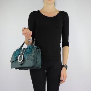 Bolsa de mano y hombro del bolso de Crossbody Dock con plumas, de color verde oscuro talla M A68039 E0007