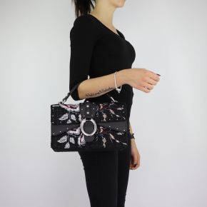 Hand bag and shoulder bag Crossbody Dock with floral embroidery size M A68039 T6795