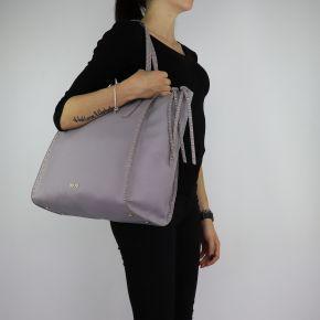 Bolsa de compras de Liu Jo Tote Alegría gris talla L A68046 E0033