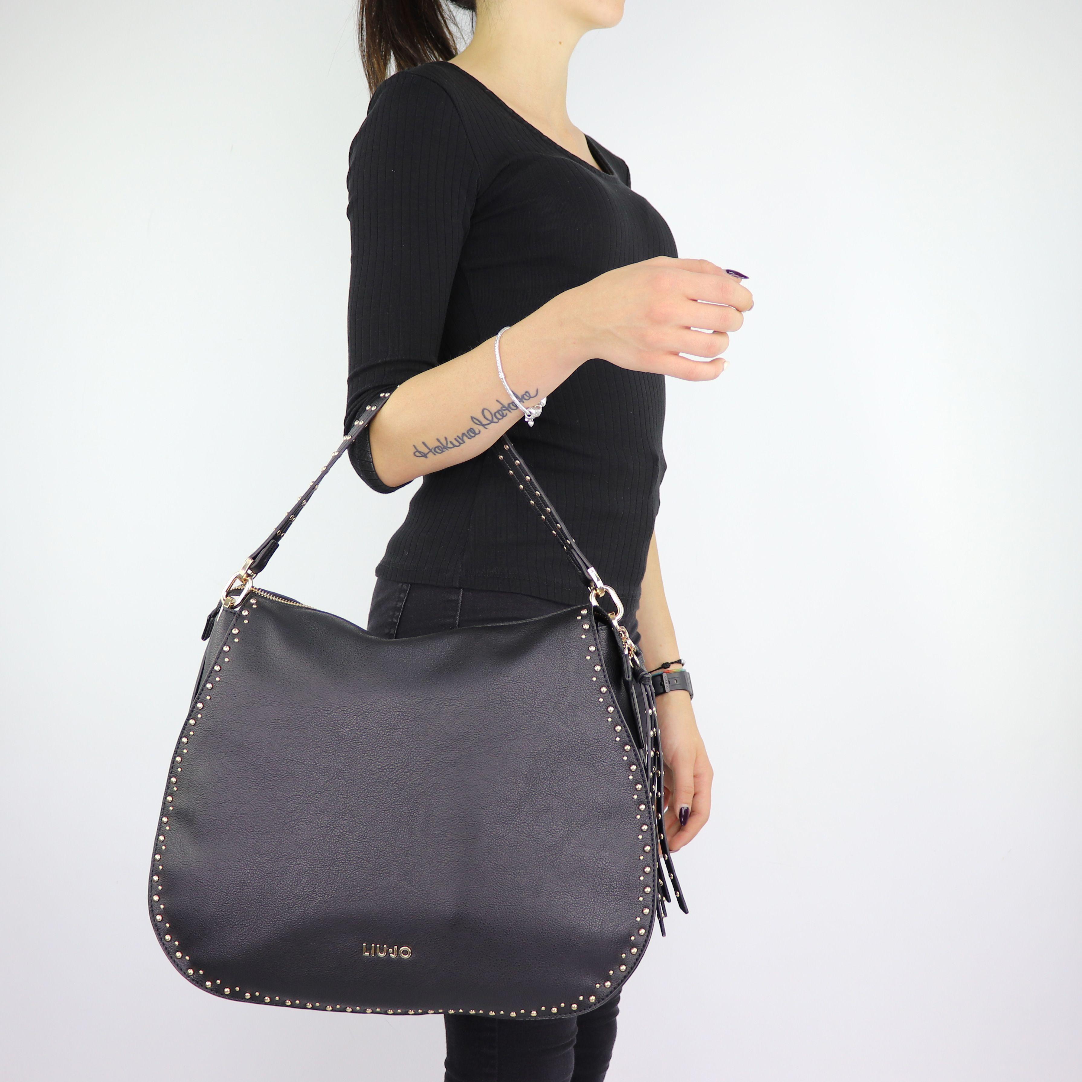 Shoulder bag Liu Jo Hobo Joy black size L A68051 E0033 - In More Est ... ac958de04ba