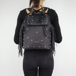 Zaino Liu Jo Backpack Lima Fringes nero A68089 E0058