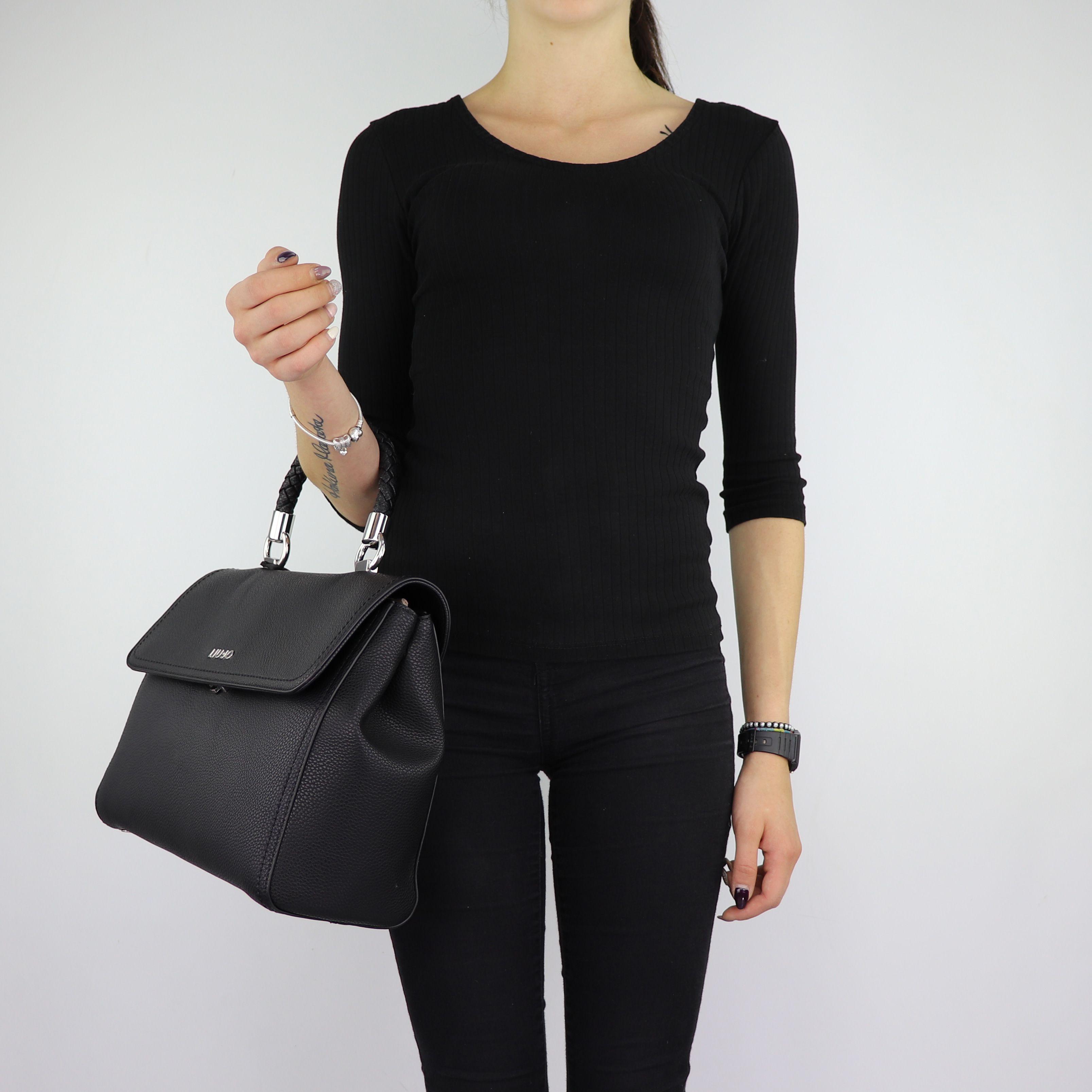 Bag Folder Liu Jo with top handle Manhattan black size M