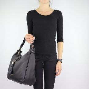 Tasche ein-Schulter-Liu Jo Piave schwarze A68115 E0027