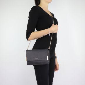 Tasche Clutch von Liu Jo Umhängetasche schwarzen Insel größe S A68167 E0087