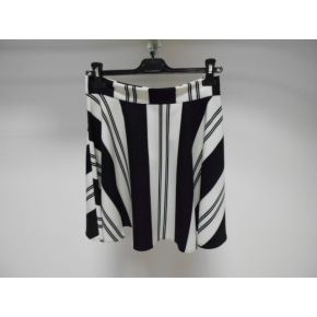 SKIRT WHITE LINES BLACK
