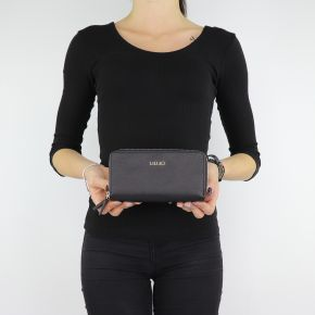 Wallet XL double zip around Barona Liu Jo black A68188 E0059