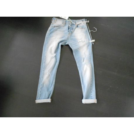 JEANS JOSH BLUE RIPPED LIGHT WASH