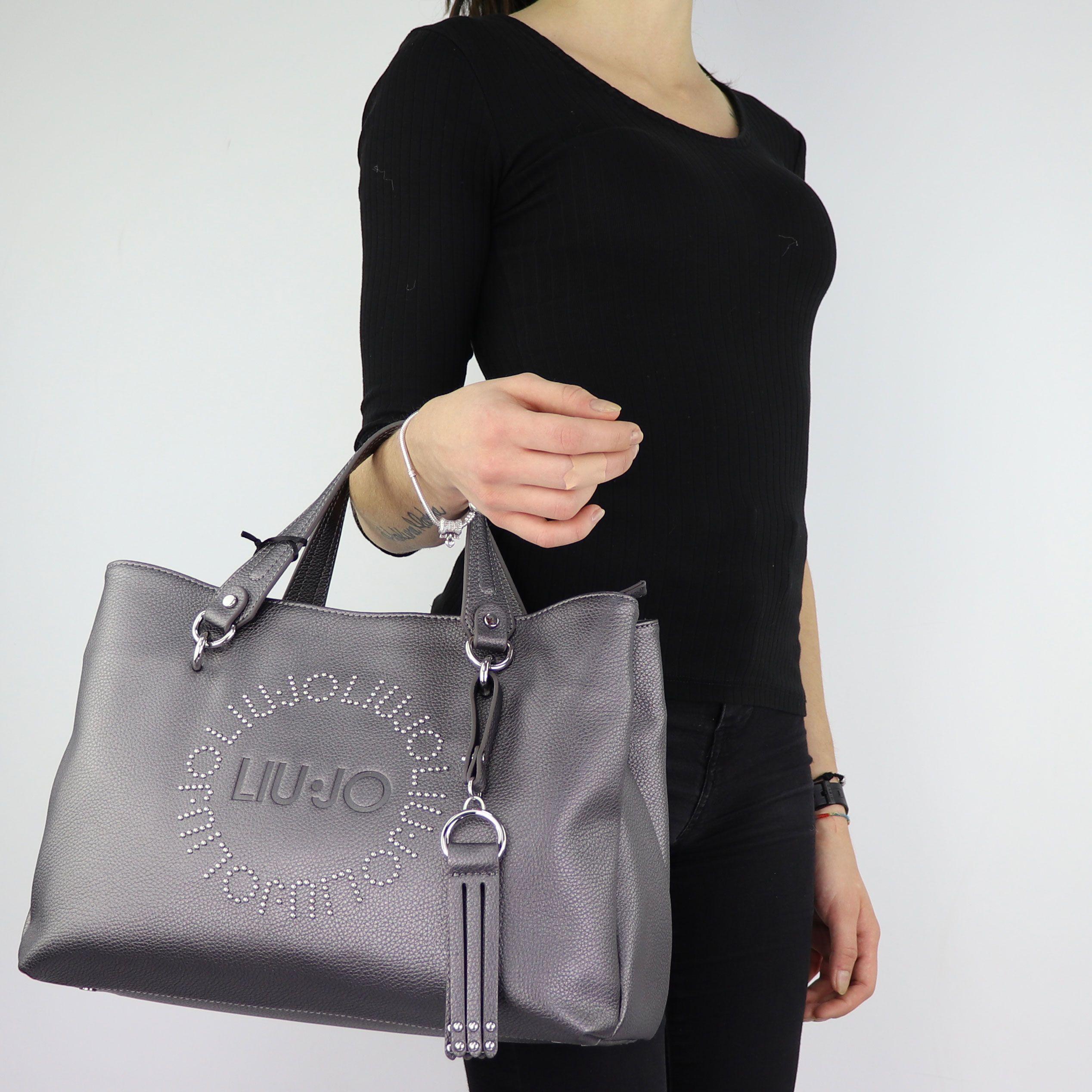 paquete de moda y atractivo detallado venta de descuento Borsa Liu Jo gris de compras Bolso de Colorado N68205 E0037 - In ...