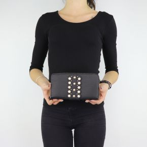 Wallet Liu jo black beads with Dock N68174 E0037